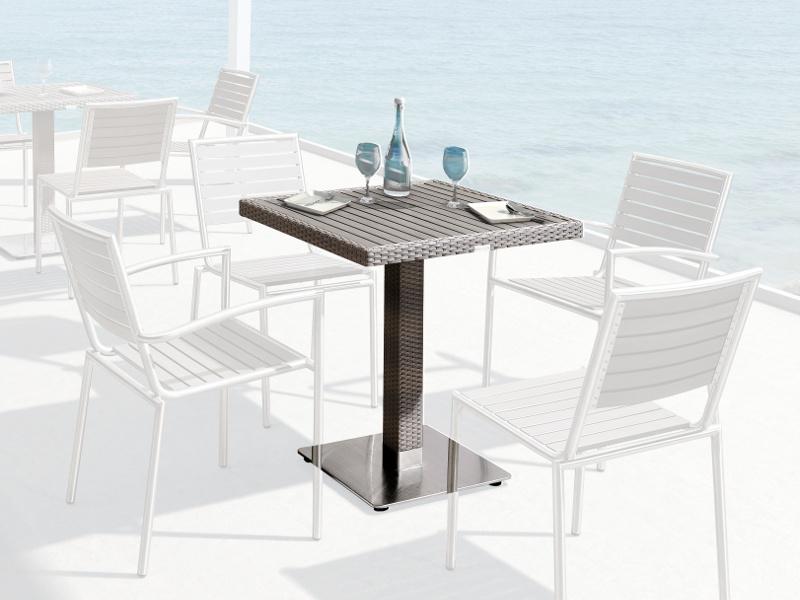 8ea481306f9bb Stôl PONDS 70x70 - Záhradný nábytok, ratanový nábytok   Gardin.sk
